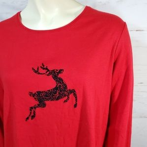 🔥 Reindeer Christmas Top Petite Large long sleeve